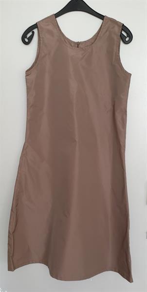 Grote foto cognac kleurige jurk maar 36 38 kleding dames overige kledingstukken