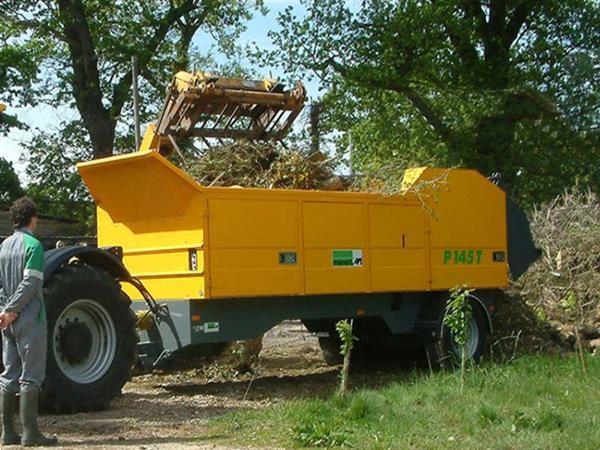 Grote foto menart p145 tm tractor aangedreven doe het zelf en verbouw afvalverwerking
