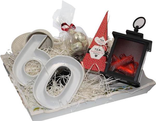 Grote foto verjaardag cadeaupakket 60 jaar diversen cadeautjes en bonnen