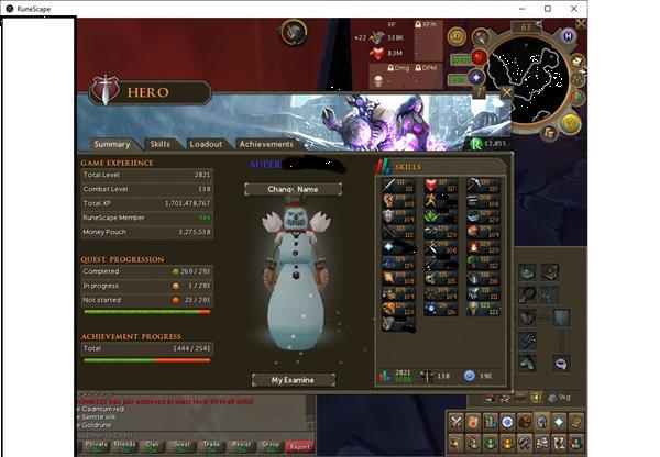 Grote foto runescape 3 account lvl 138 ex completionist spelcomputers games pc