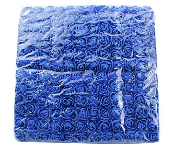 Grote foto actie mini foamrose met tule koningsblauw bulk pak 144 st 2 verzamelen overige verzamelingen