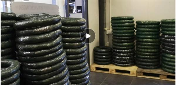 Grote foto strokrans strokransen 30 cm. gewikkeld strokrans strokransen verzamelen overige verzamelingen