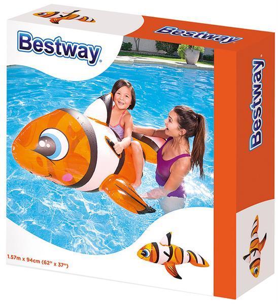 Grote foto ride on vis 157x94cm alleen deze week 10 extra korting kinderen en baby zwembaden en zandbakken