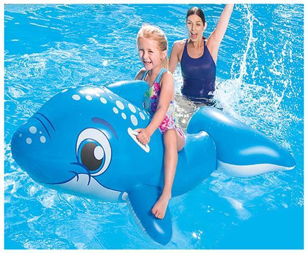 Grote foto ride on dolfijn 157x89cm alleen deze week 10 extra korting kinderen en baby zwembaden en zandbakken