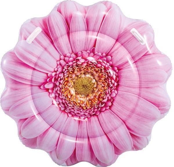Grote foto luchtbed pink daisy 142cm alleen deze week 25 extra kort kinderen en baby zwembaden en zandbakken