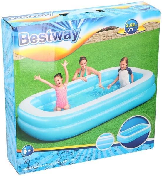 Grote foto bestway familie zwembad 2 rings 262x175x51cm outledje kinderen en baby zwembaden en zandbakken