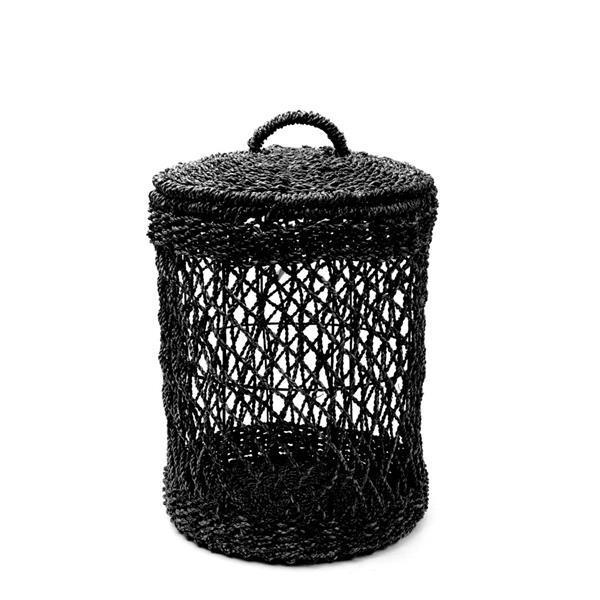 Grote foto wasmand zwart riet m 35 x 35 x 50 cm doe het zelf en verbouw sanitair