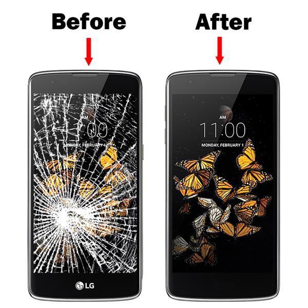 Grote foto mmobiel front glas display scherm voor lg k8 2017 zwart telecommunicatie toebehoren en onderdelen