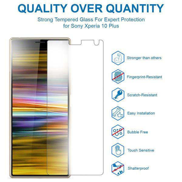 Grote foto mmobiel 2 stuks sony xperia 10 plus glazen screenprotector t telecommunicatie toebehoren en onderdelen