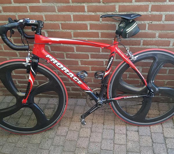 Grote foto prorace moros racefiets carbon 53 cm nieuwstaat fietsen en brommers racefietsen