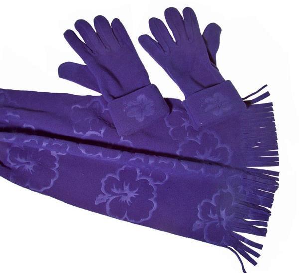 Grote foto winterset sjaal met handschoenen blauw alleen deze week 25 beauty en gezondheid lichaamsverzorging