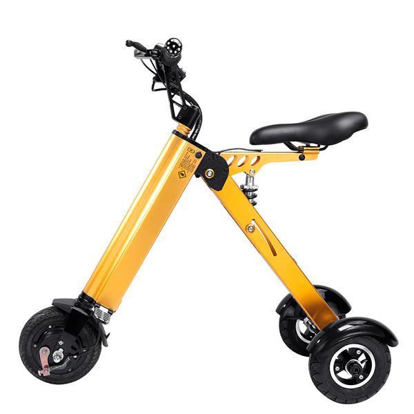 Grote foto ultralichte elektrische vouwbare smart e scooter 250w 8 fietsen en brommers onderdelen