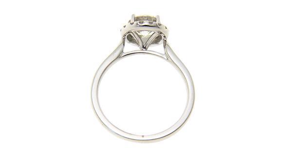Grote foto witgouden entourage ring met diamant 18 krt nieuw 6712.5 sieraden tassen en uiterlijk ringen voor haar