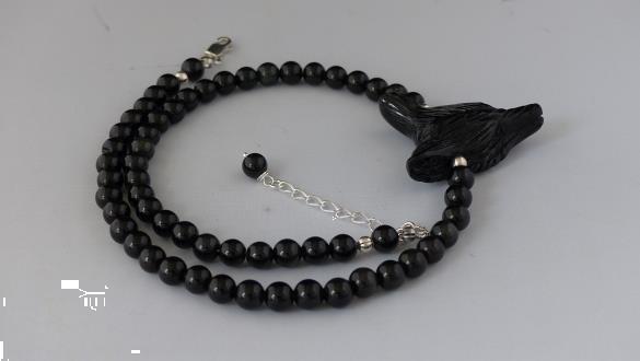 Grote foto obsidiaan ketting oorhanger set sieraden tassen en uiterlijk kettingen