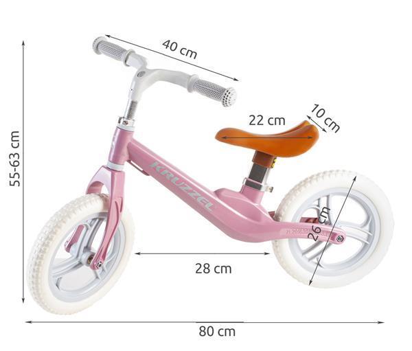 Grote foto kinderfiets loopfiets met verlichte wielen roze blauw sport en fitness overige sport en fitness