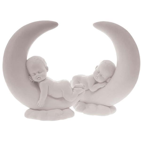 Grote foto beeldje maan met baby kinderen en baby kraamcadeaus en geboorteborden