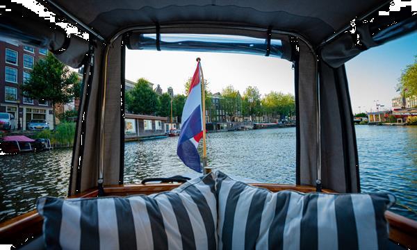 Grote foto grachtenfahrt amsterdam watersport en boten motorboten en jachten