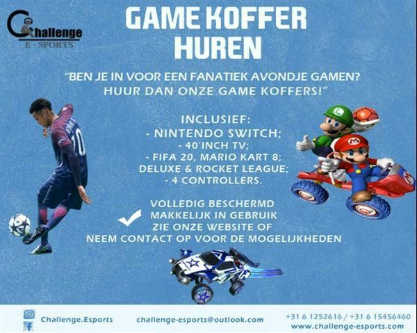 Grote foto nintendo switch game koffer huren spelcomputers games overige