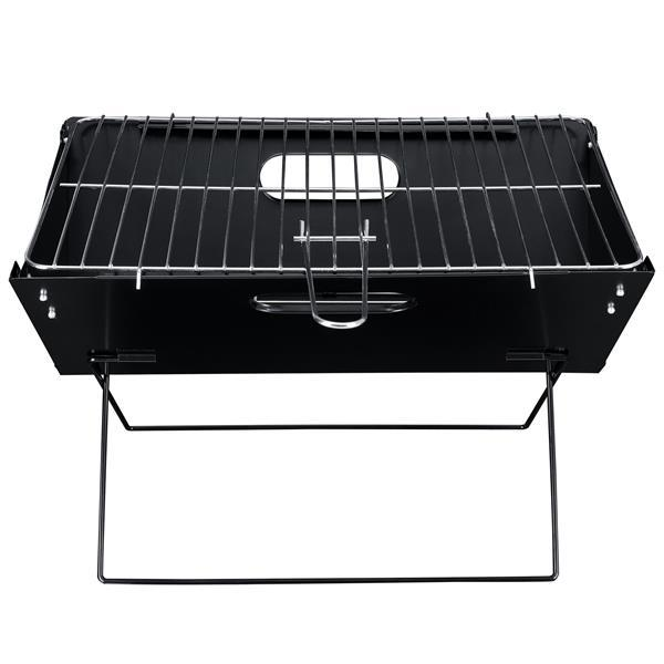 Grote foto pro.tec klapgrill barbecue bbq 45x30x30 cm zwart caravans en kamperen caravan accessoires