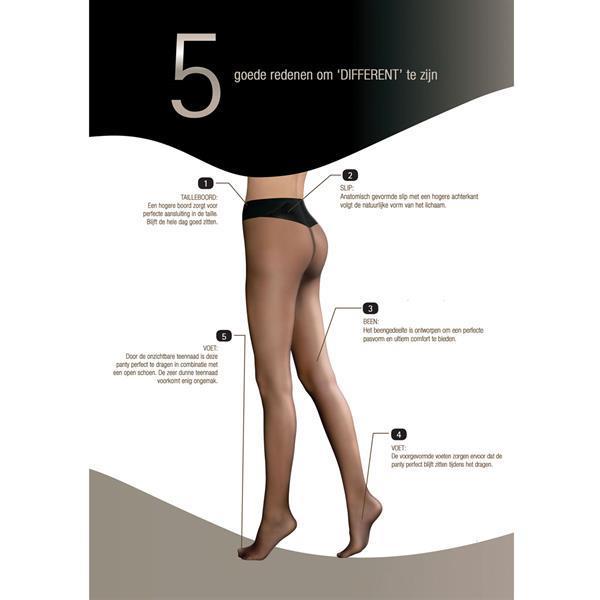 Grote foto different panty 20 denier 004 kleding dames ondergoed