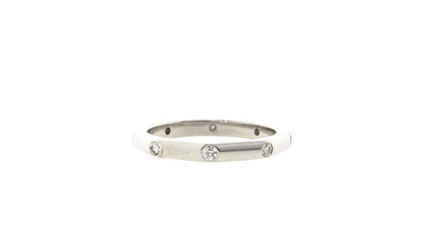 Grote foto witgouden octogoon ring met diamant 14 krt 447.5 sieraden tassen en uiterlijk ringen voor haar