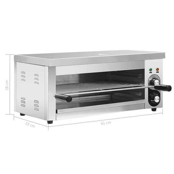 Grote foto vidaxl salamandergrill elektrisch gastronorm 2500 w roestvri witgoed en apparatuur fornuizen