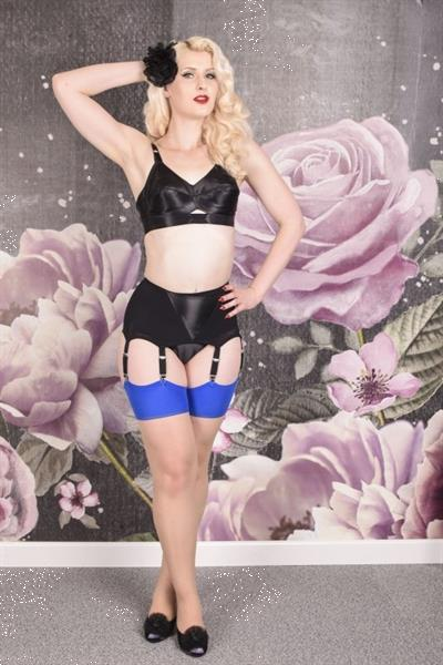 Grote foto what katie did seamed stockings blue glamour. kleding dames ondergoed