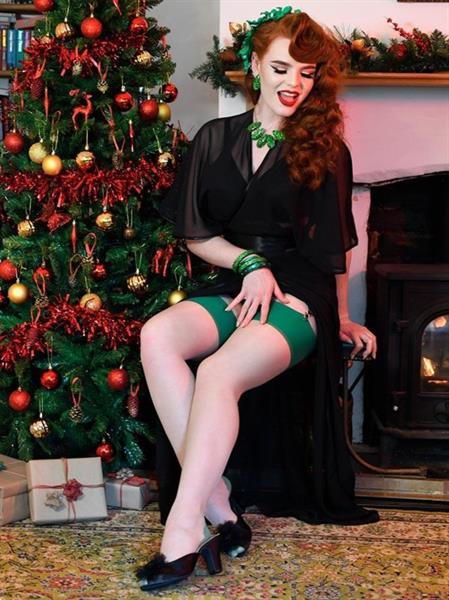 Grote foto what katie did seamed stockings green glamour. kleding dames ondergoed