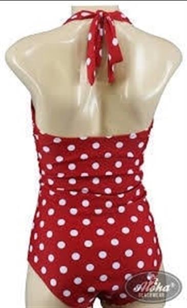 Grote foto aloha beachwear vintage pinup badpak red polkadot. kleding dames badmode en zwemkleding
