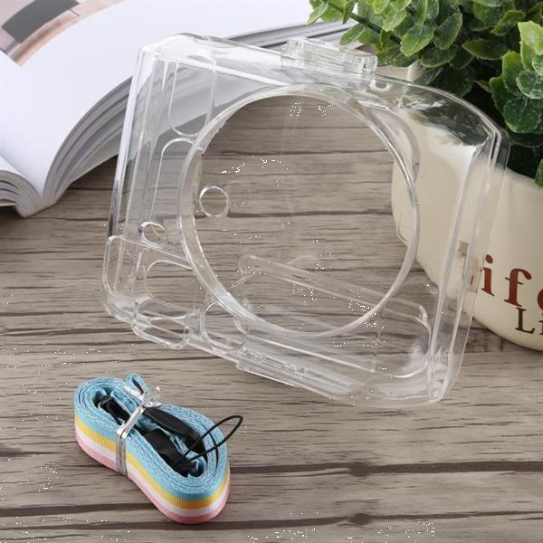 Grote foto protective crystal shell case with strap for fujifilm instax audio tv en foto onderdelen en accessoires