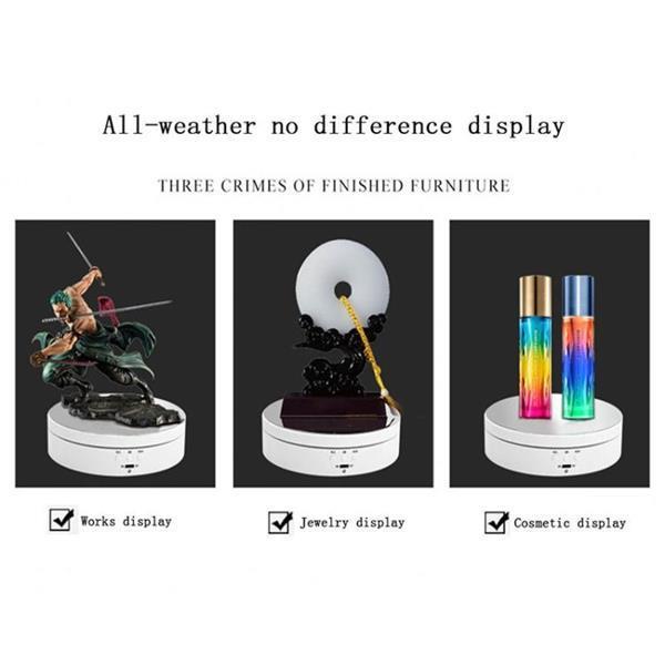 Grote foto 13.8cm usb charging smart 360 degree rotating turntable disp audio tv en foto algemeen