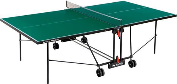 Grote foto buffalo tafeltennistafel basic outdoor groen sport en fitness overige sport en fitness
