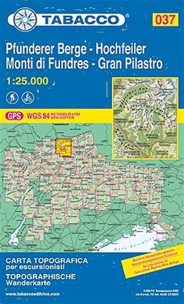 Grote foto wandelkaart 037 hochfeiler pfunderer berge gran pilastro tab boeken atlassen en landkaarten