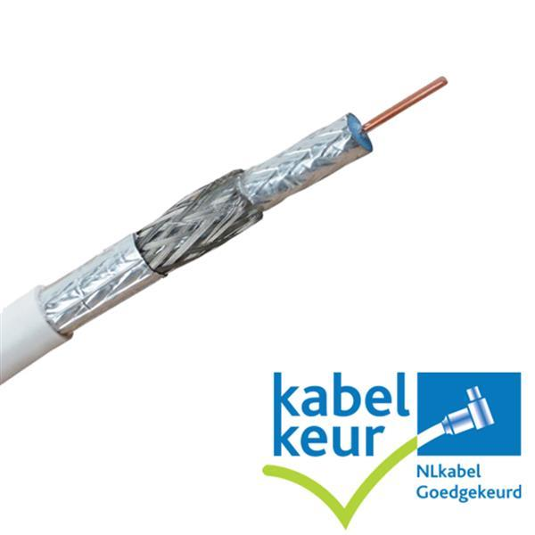 Grote foto coaxkabel maatwerk met gemonteerde connectoren telecommunicatie satellietontvangers