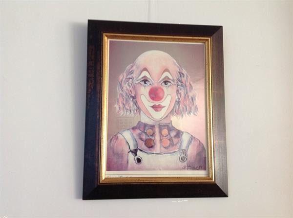 Grote foto schilderij clown huis en inrichting schilderijen en foto