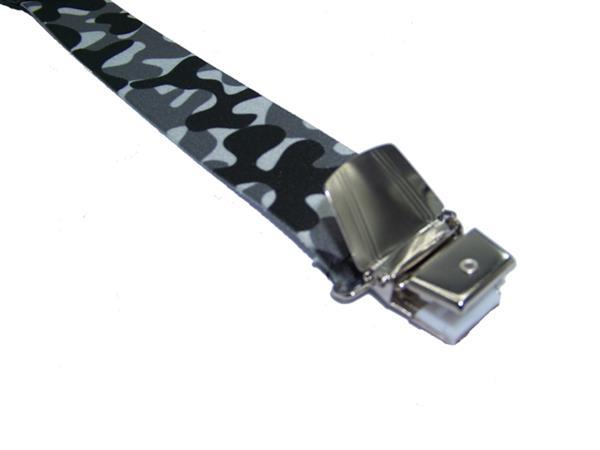 Grote foto camouflage grijs bretels met extra sterke clips kleding dames riemen