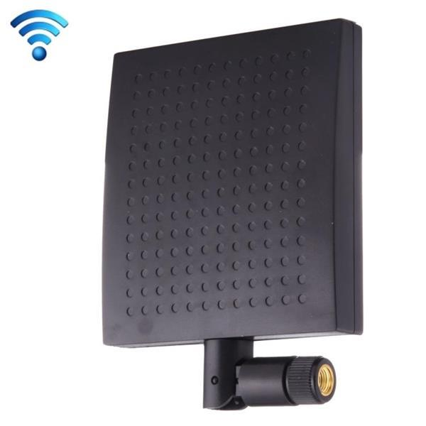 Grote foto 12dbi sma male connector 2.4ghz panel wifi antenna black telecommunicatie zenders en ontvangers