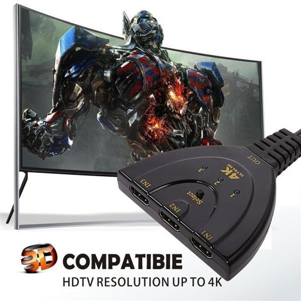 Grote foto 3 in 1 hdmi input 4k x 2k hdtv pigtail switch adapter hdmi audio tv en foto onderdelen en accessoires