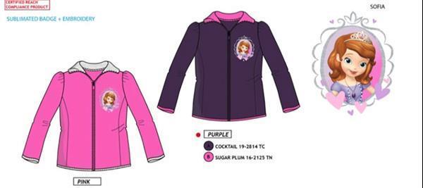 Grote foto prinses sofia fleece vest 98 104 110 116 kinderen en baby overige