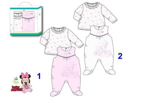 Grote foto minnie mouse boxpakje shirt giftset kinderen en baby kraamcadeaus en geboorteborden
