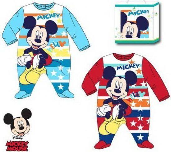 Grote foto mickey mouse pyjama 9 12 18 24 maanden kinderen en baby kraamcadeaus en geboorteborden