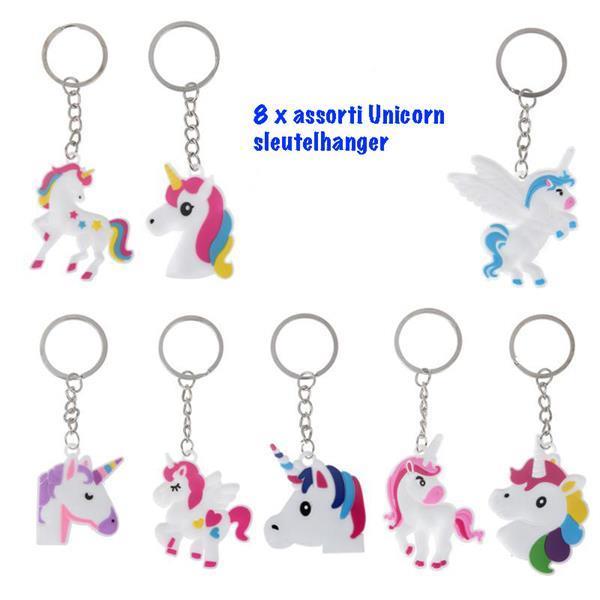 Grote foto unicorn 8 x sleutelhanger verzamelen overige verzamelingen