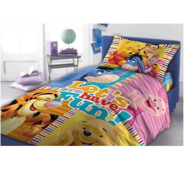Grote foto winnie the pooh dekbedovertrek let have fun kinderen en baby complete kinderkamers