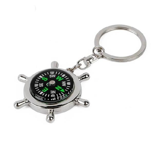 Grote foto creative rudder compass keychain compass verzamelen overige verzamelingen