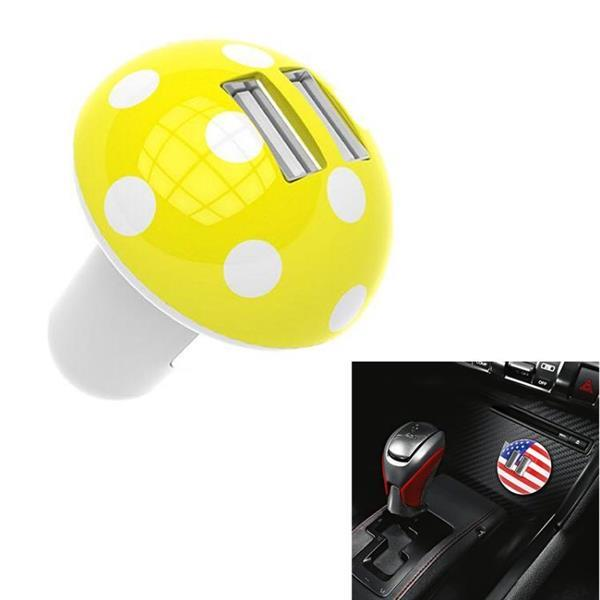 Grote foto mushroom shape qc 3.0 fast charge dual usb car charger m1 bl telecommunicatie opladers en autoladers
