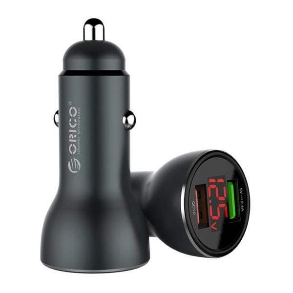 Grote foto orico 30w dual ports qc3.0 1 usb smart car charger upf k2 telecommunicatie opladers en autoladers
