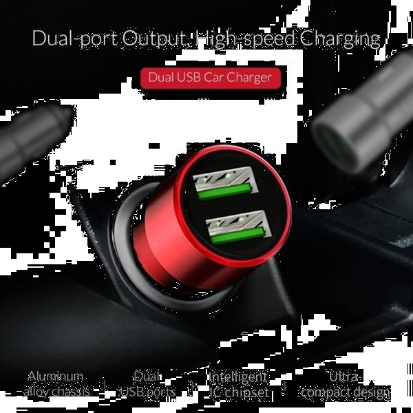 Grote foto orico dual ports usb car charger upm 2u gray telecommunicatie opladers en autoladers