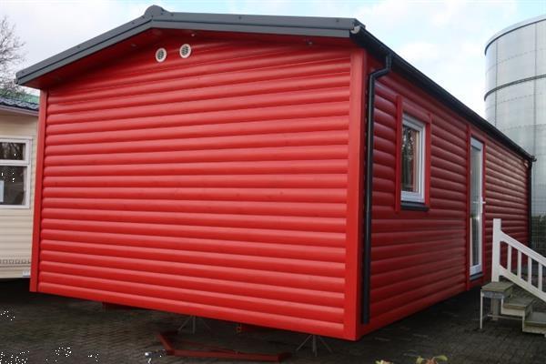 Grote foto sweden rood chalet van hout op maat gemaakt caravans en kamperen stacaravans