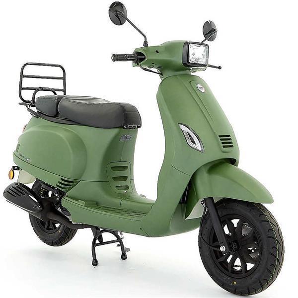 Grote foto dts milano s e5 mat groen bij central scooters kopen 12 fietsen en brommers scooters