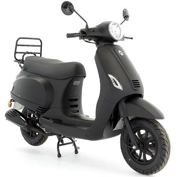 Grote foto dts milano e5 mat zwart bij central scooters kopen 1248 fietsen en brommers scooters